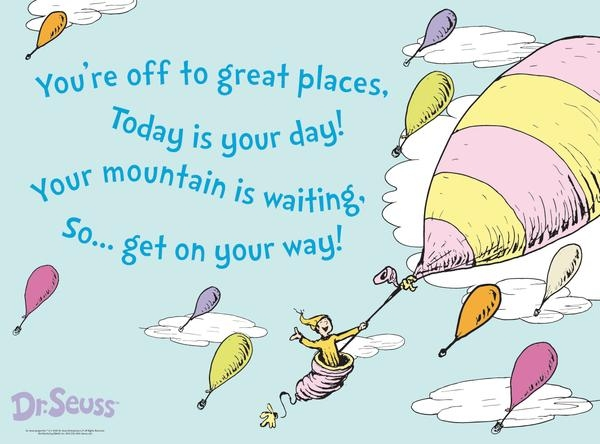 Oh the places you'll go oh the places you clipart