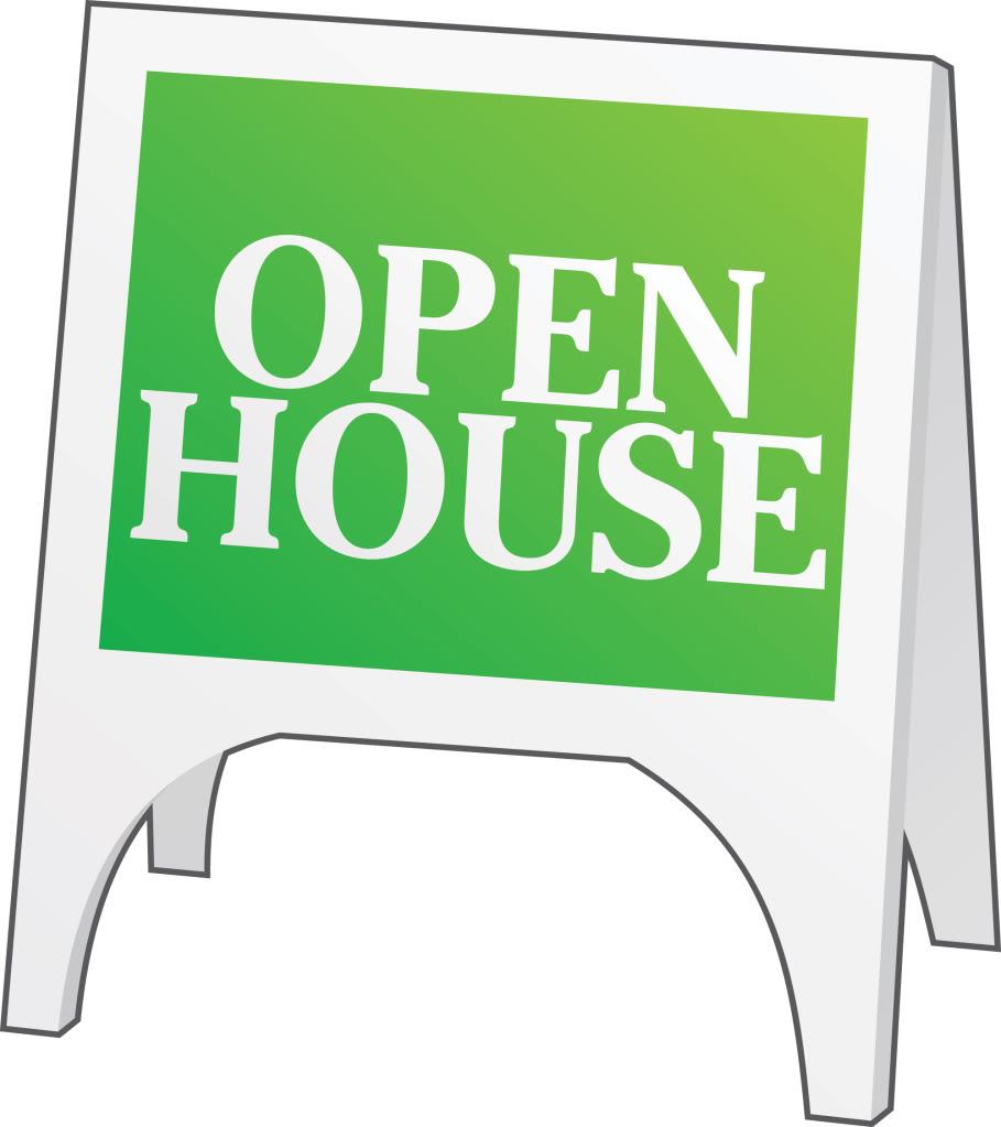 Open house clipart 3