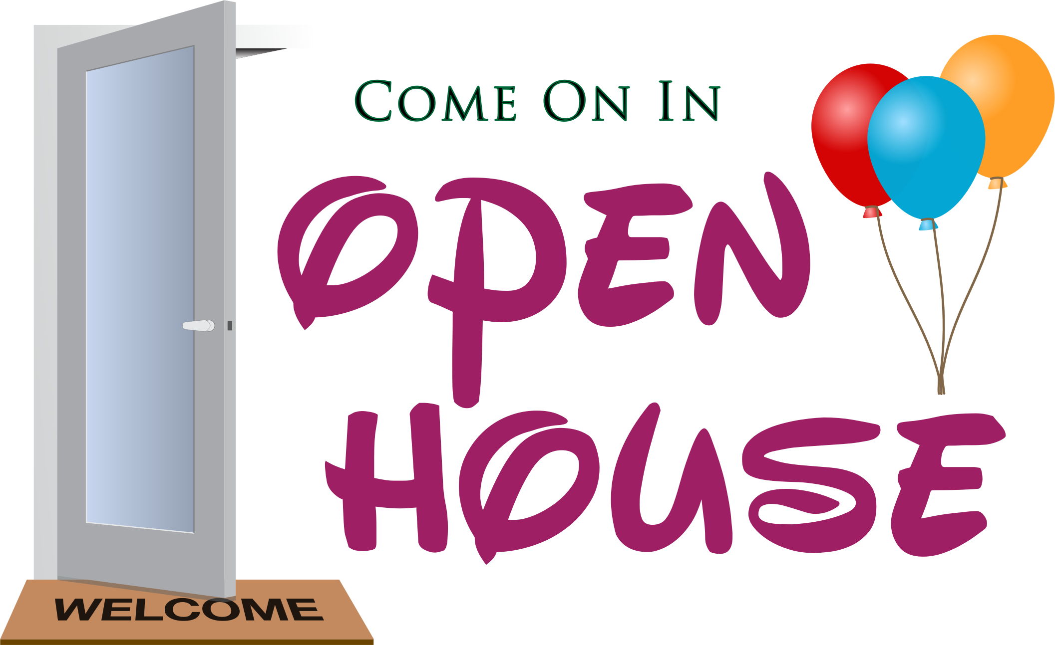 Open house clipart 5