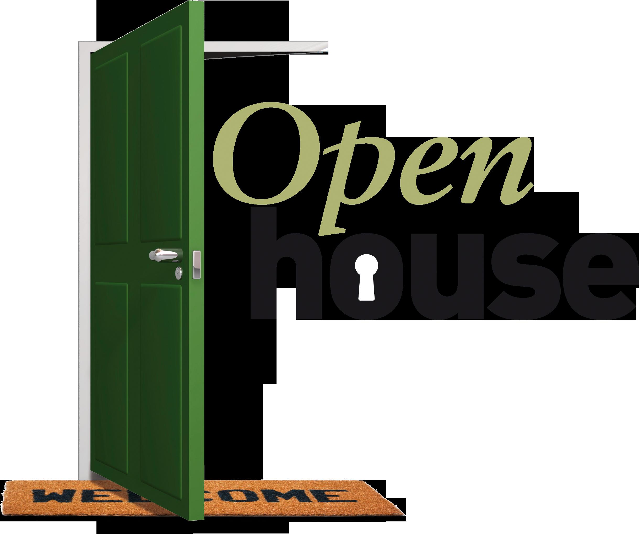 Open house clipart 6