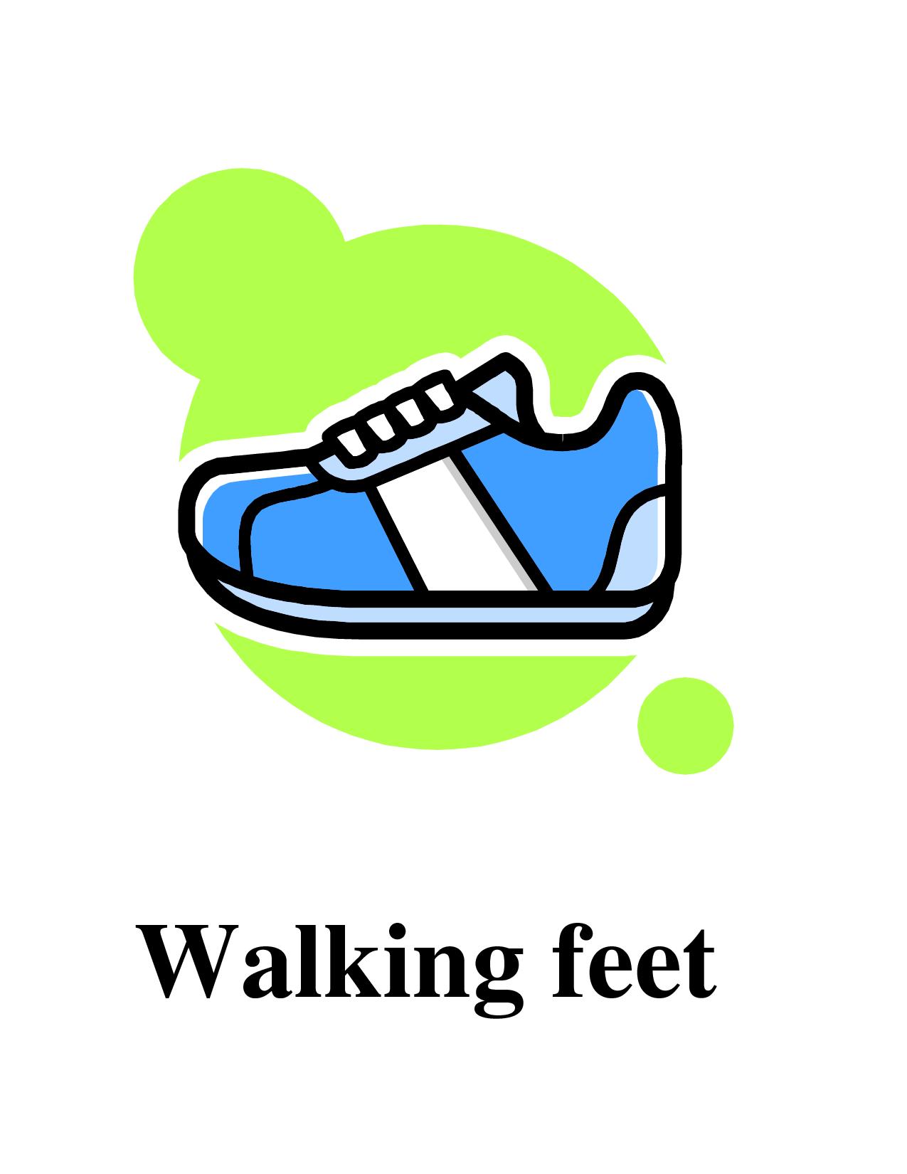 Photos of walking feet template shoe print clip art left