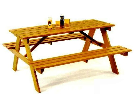 Picnic table clip art 4