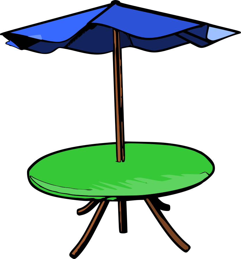 Picnic table clip art 5