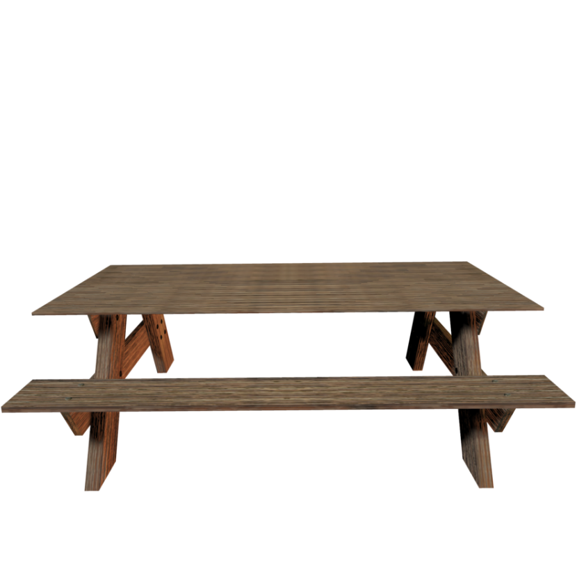 Picnic table clipart 10
