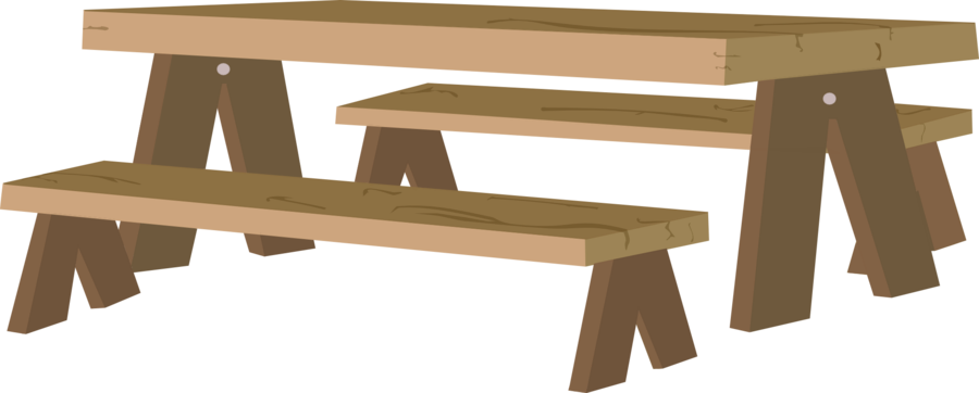Picnic table clipart 17