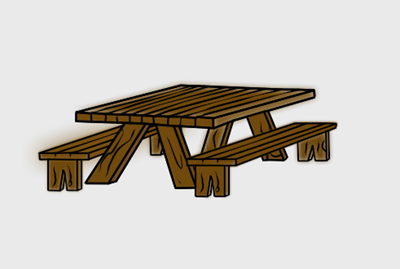 Picnic table clipart 3