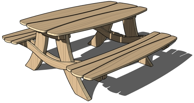Picnic table clipart 4