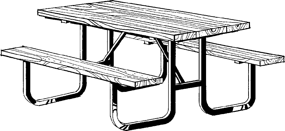 Picnic table clipart 5