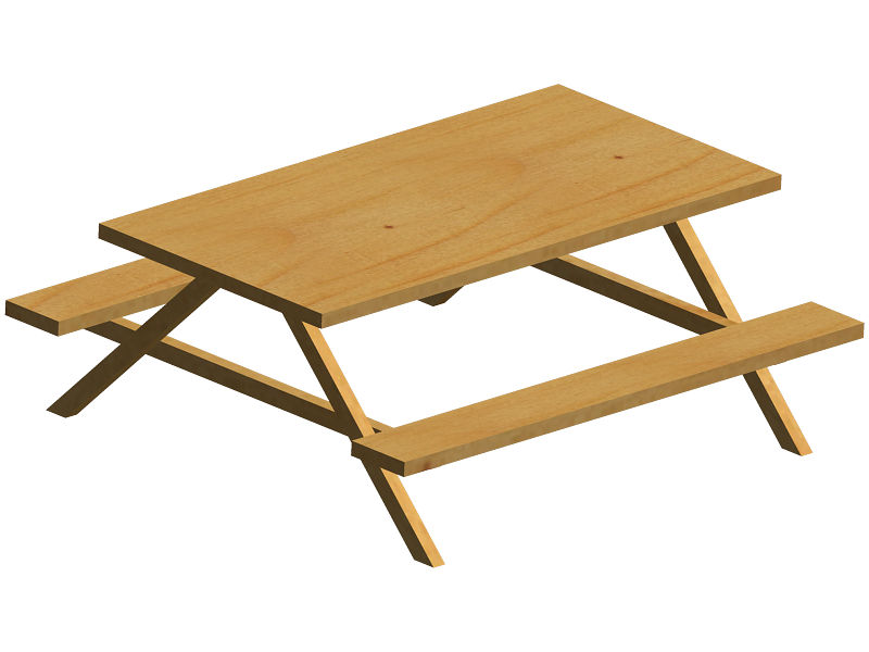 Picnic table clipart 6