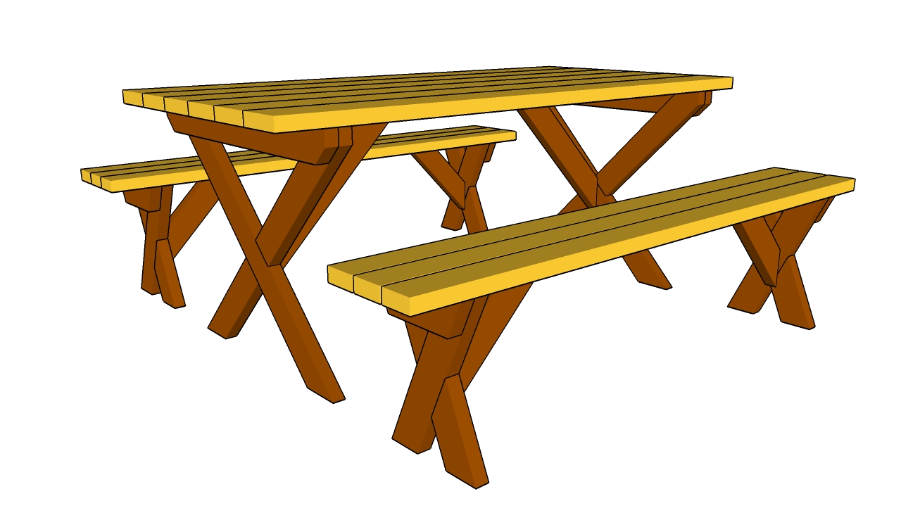 Picnic table clipart 8