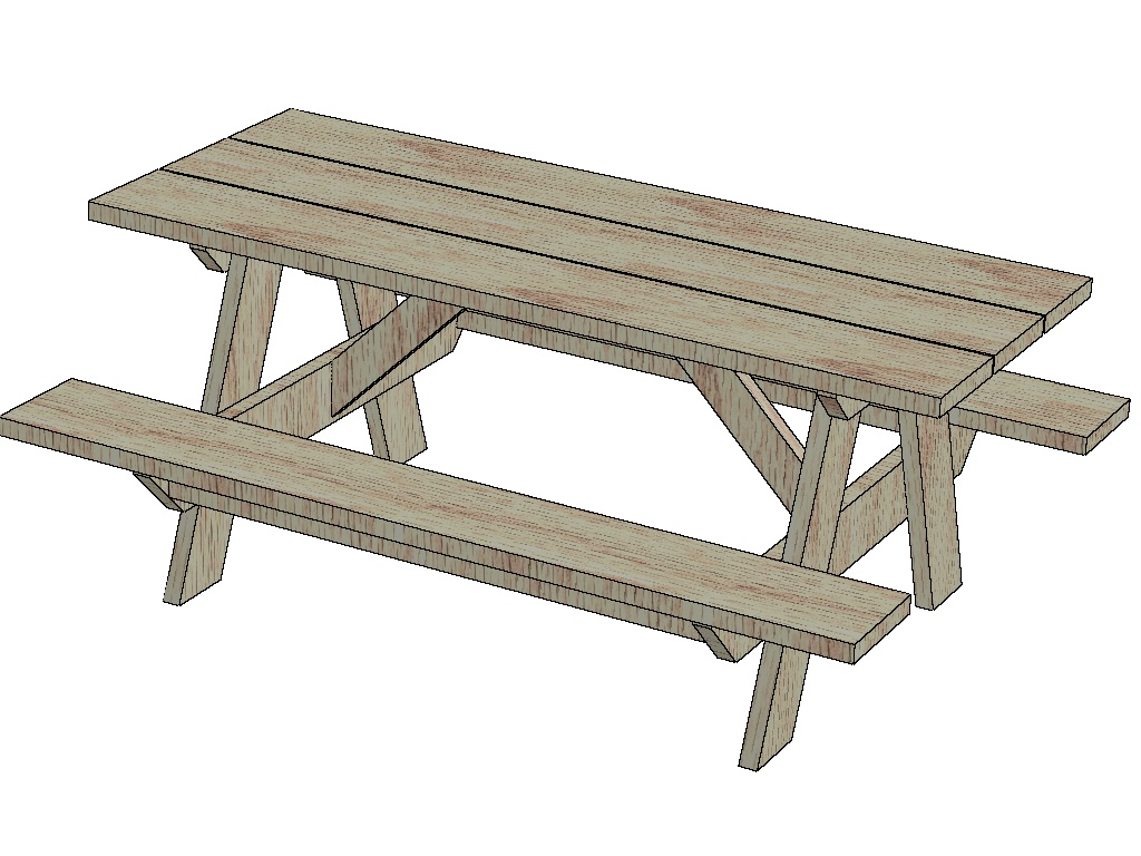 Picnic table picinic table clip art - WikiClipArt