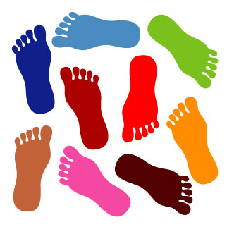 Preschool walking feet clipart
