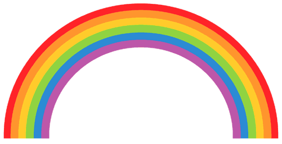 Rainbow  black and white rainbow clipart 0