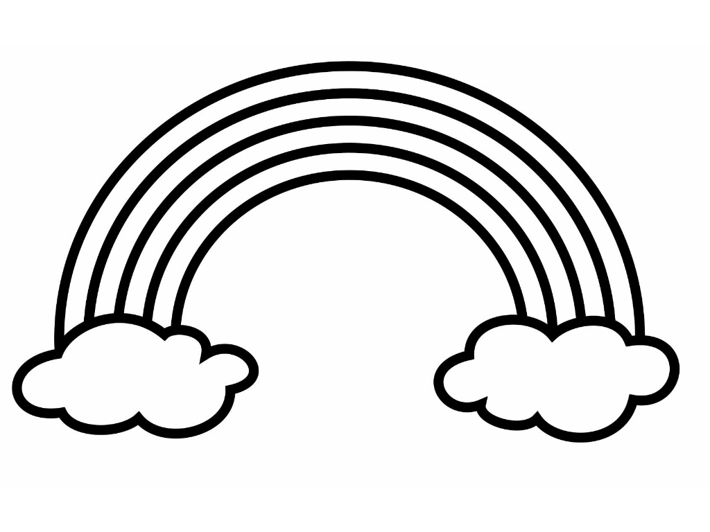 Rainbow  black and white rainbow clipart black and white free images 8