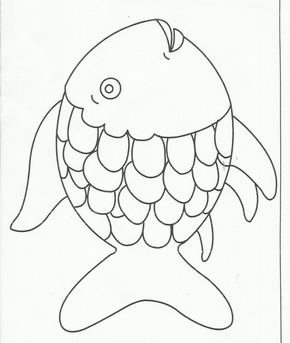 Rainbow  black and white rainbow fish black and white clipart