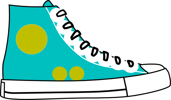Red tennis shoes clipart 2