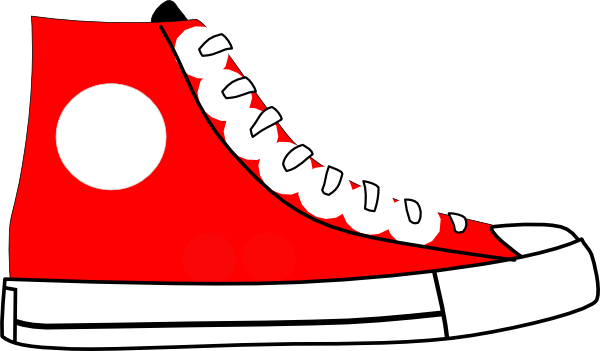 Red tennis shoes clipart 3