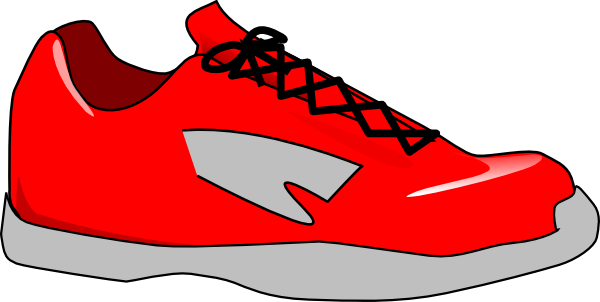 Red tennis shoes clipart 4