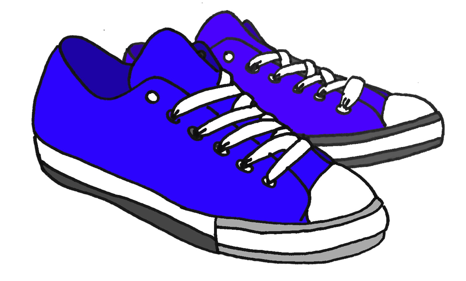 Red tennis shoes clipart