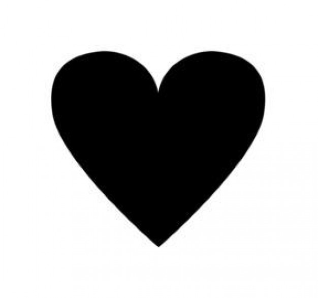 Small black heart clipart 2