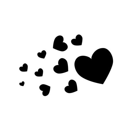 Small black heart clipart 3