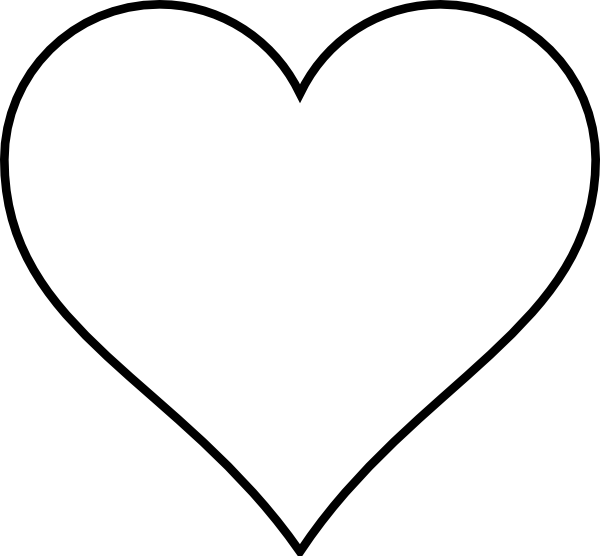 Small black heart clipart 4