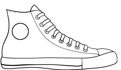 Tennis shoe bottom clipart