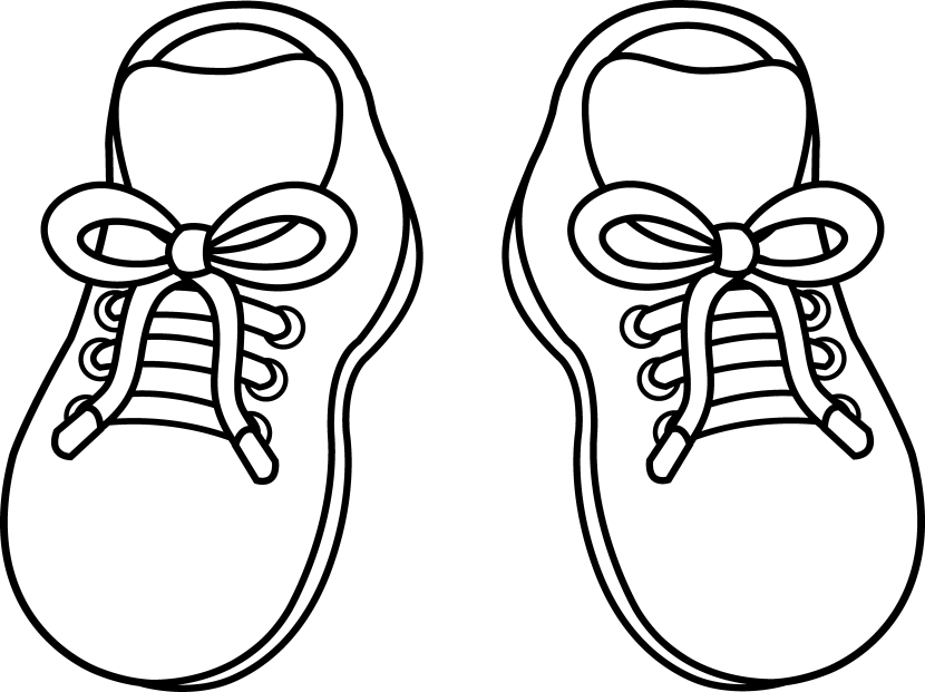 Tennis shoe clip art hostted