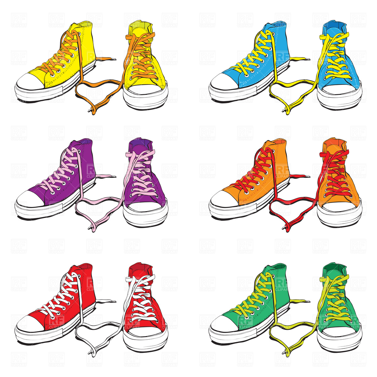 Tennis shoe clipart hostted