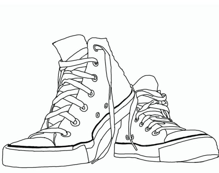 Tennis shoe converse shoes clipart clipartfest