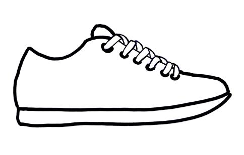 e5f714b1dd6 Tennis shoes clipart black and white free 12 - WikiClipArt