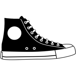 Tennis shoe shoe clip art black and white free clipart images