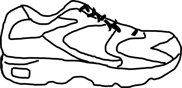 Tennis shoes clipart black and white free 13