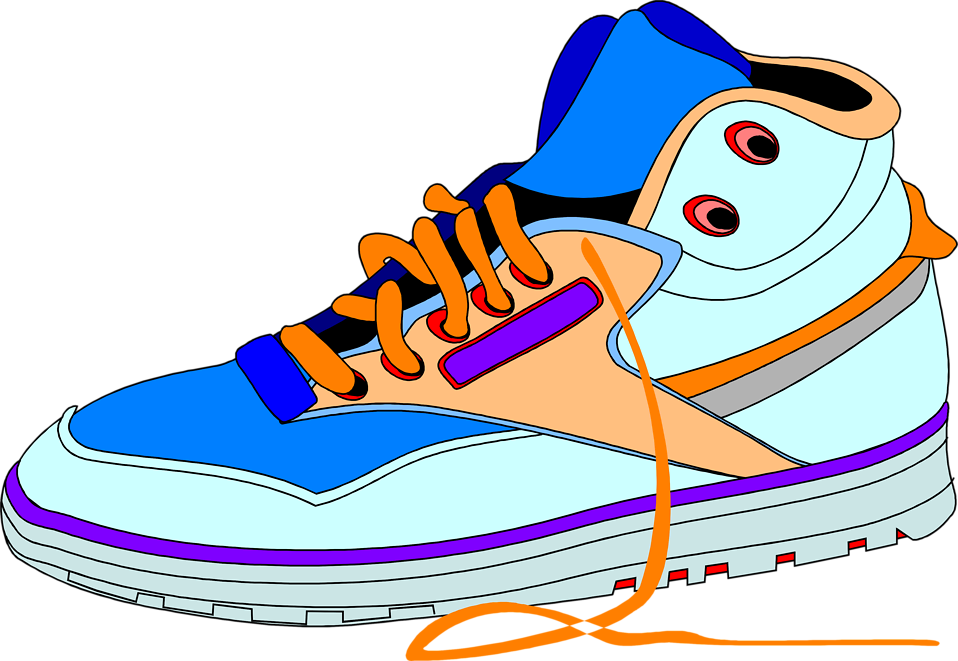 Tennis shoes clipart black and white free 18