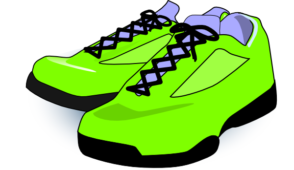 Tennis shoes clipart black and white free 2 2