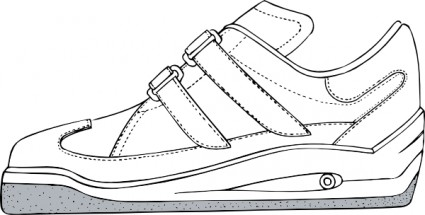 Tennis shoes clipart black and white free 2 3