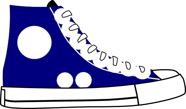 Tennis shoes clipart black and white free 2