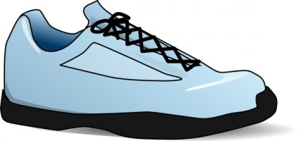 Tennis shoes clipart black and white free 5 2