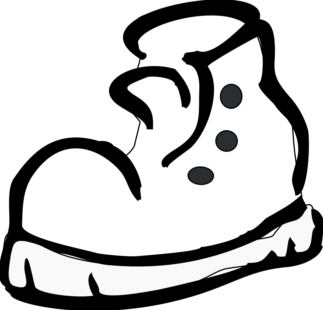 Tennis shoes clipart black and white free 5 4