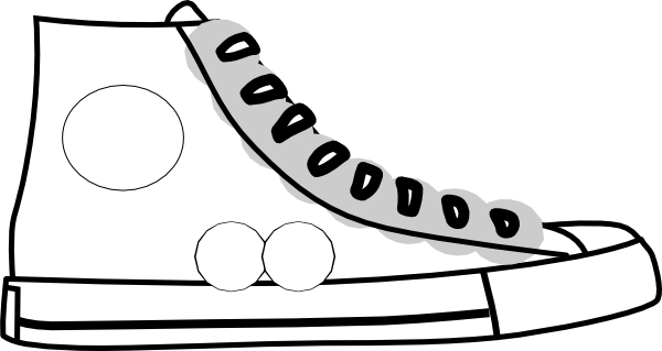 Tennis shoes clipart black and white free 6 2