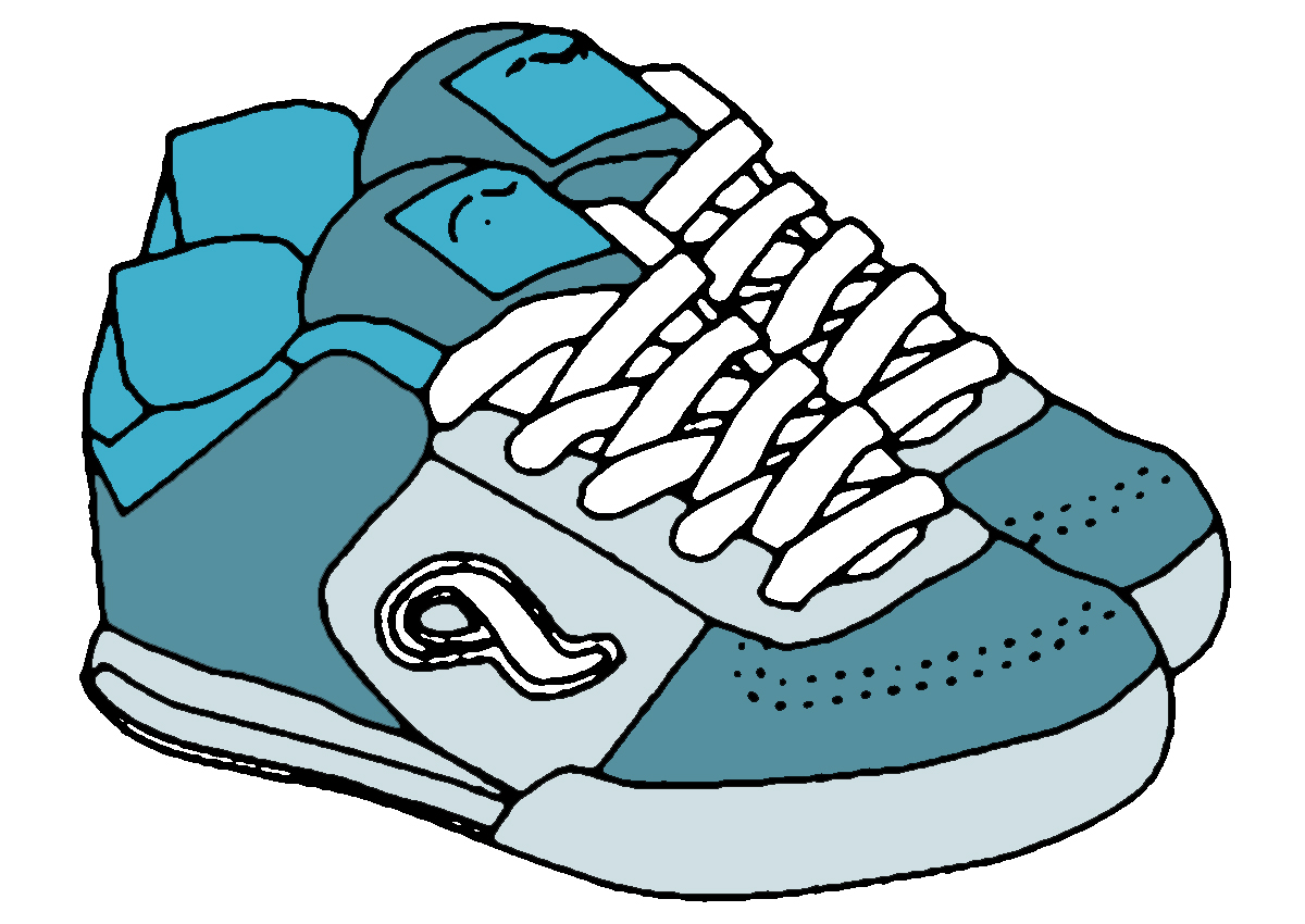 Tennis shoes clipart black and white free 6