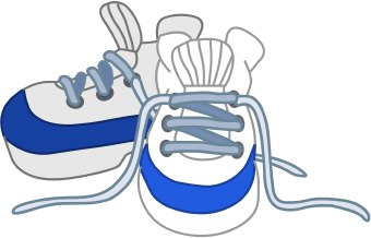 Tennis shoes clipart black and white free 8