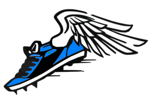 Track clip art track shoe with wings free image