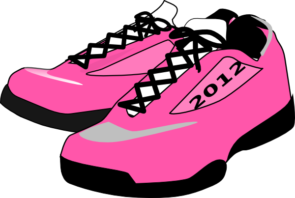 Track shoe running shoes clipart 2