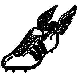 Track shoe track and field clip art at clker vector image
