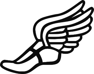 Track shoe track clip art shoe with wings free 3