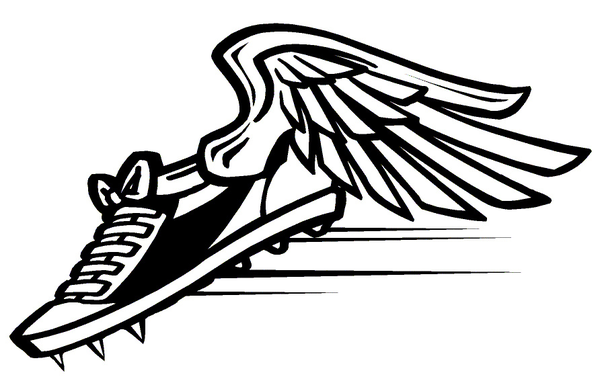 Track shoe track clip art shoe with wings free 6