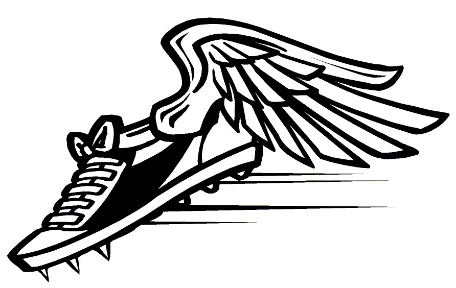 Track shoe track clip art shoe with wings free