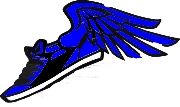 Track shoe track spikes with wings clipart 2