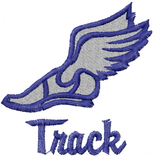 Track shoe with wings 0 clip art image 2